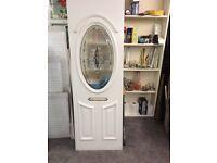 Pvcu door panel, 28mm thick, 585 X 1805, 640 X 1675, £25 each.