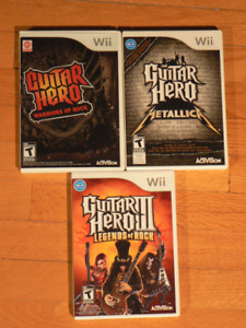 Jeux Guitar Hero Wii