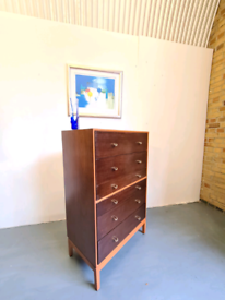 Mid Century Oak Chest of Drawers by Stag