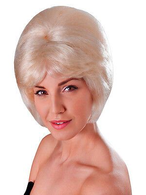 Ladies Short Blonde Beehive Wig 60s 70s Mod Fancy Dress Lulu Cilla Twiggy - Twiggy Kostüm