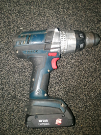 BOSCH GSD-18 VE-2-LI DRILL WITH 18V LITHEUM BATTERY