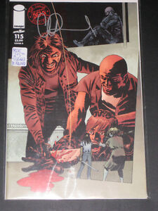 The Walking Dead #115 Variant Signed By Artist Adlard Zombies