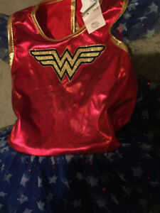 Reduced- Halloween Wonder Woman costume for girl