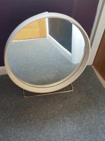 Vintage Retro Round STAG Mid Century Tilting Free Standing mirror