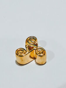 Pandora style Charm or Bead 925 Sterling Silver & Gold plated