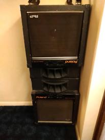 "Roland studio speakers 1983 15""+horns"