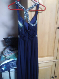 Navy blue formal long gown