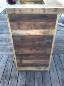Pallet bar diy pallet wood kits rustic decor barnboard