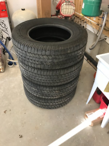 Goodyear M/S 265/70/R18 tires. * 85% Tread left.
