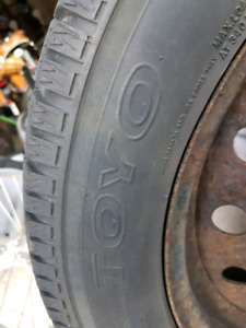 Set of four 205/55/R16 winter tires and rims