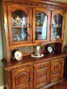 Solid wood hutch/buffet and table/chairs