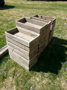 Old wooden tomato crates for sale