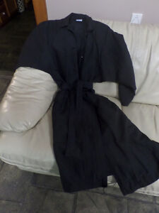 One Size La Redoute long black raincoat + Thunder Bay cape coat