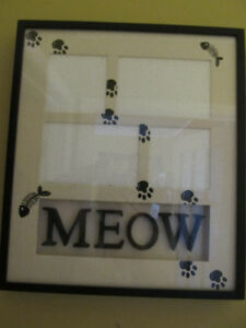 Brand new wall picture frame for cats.