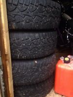 """15"""" VW steel rims and winter tires"""