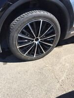 "255 45 R20 - Set of 4 rims and 4 tires - 20"" - Good condition"