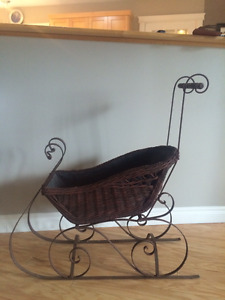 Old Wicker Sleigh