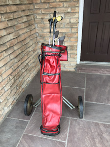 Complete Golf Set [Bag,Clubs, Folding Cart]