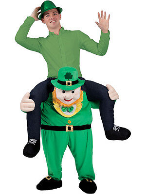 Funny Piggy Back Carry Me Leprechaun St Patricks Day Fancy Dress Mascot Costume - Leprechaun Mascot Costume