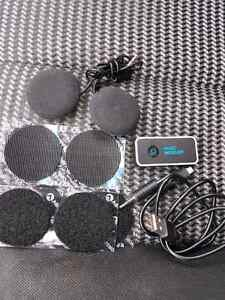 Motorcycle helmet speakers with Bluetooth adapter