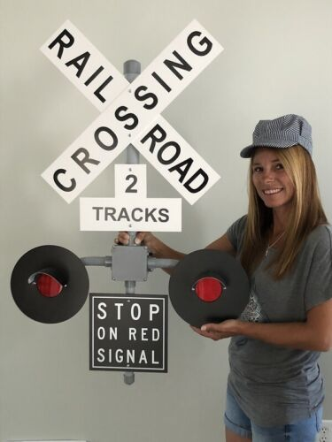 Railroad Crossing Signal wall decoration no sound