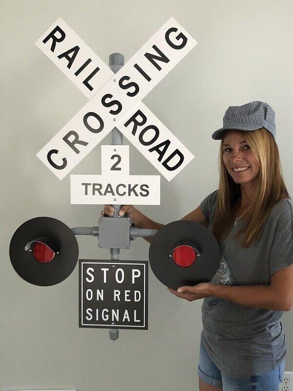 Railroad Crossing Signal Wall Decoration No Sound - $165.00