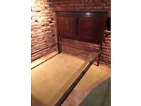 Victorian Mahogany double bed with wood inlay