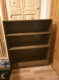 Brown bookcase