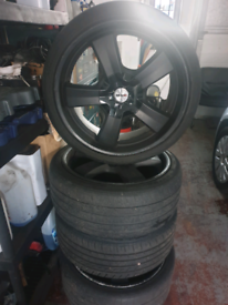 Alloy wheels fitted bmw