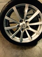 Mazda speed alloy wheels 17 inch with tires