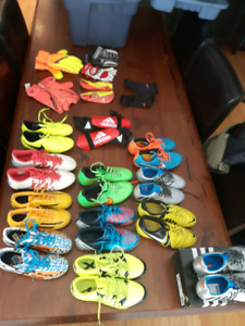 Adidas nike Soccer cleats boots shoes gloves shin guard