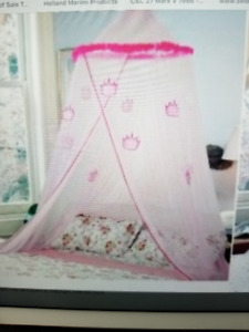 Pink Princess   Bed Netting  New In Pkg. $20.
