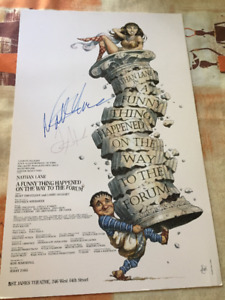 NATHAN LANE AUTOGRAPHED FORUM POSTER