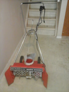 "Vintage Sunbeam ""Snow Champ"" Heavy Duty Electric Snow Thrower"