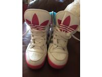 Girls adidas high tops