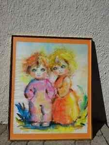 aquarelle aux deux enfants
