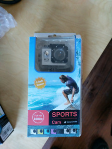 Go Pro Style - 1080p Sports Camera with case + accessories