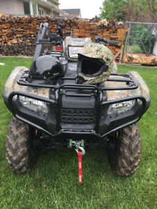 2015 Honda FourTrax 500cc Rubicon with Accessories and Trailer.