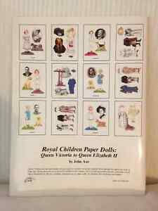 Queen Elizabeth II ~ Royal Children PaperDolls circa 1989 London Ontario image 2