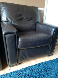 Leather Recliner Arm Chairs X 2