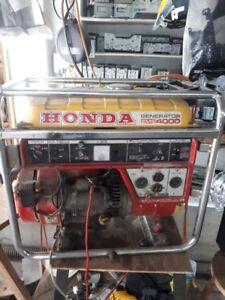 Génératrice HONDA EMS4000 défectueuse