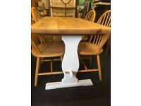 Laura Ashley farmhouse pine table and chairs. Free delivery.