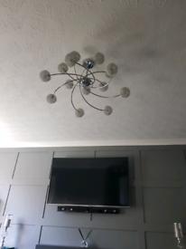 Chrome ceiling light