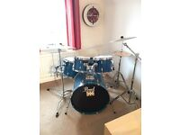 Pearl Export Series Drum Kit with Cymbals - Blue