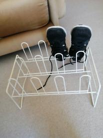 Metal Shoe Wrack, 6 pairs