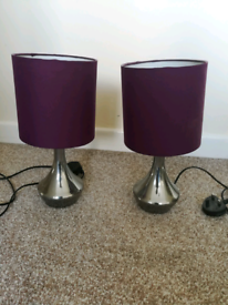 Pair of touchable lamps