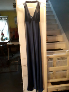 Prom worthy Navy blue halter dress