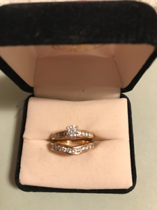Diamond Solitaire Engagement Ring & Wedding Band