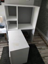 White Writing/computer fold-away desk