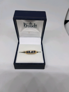 Diamond and sapphire 9ct gold ring Belmont Belmont Area Preview
